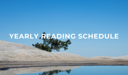 YEARLY READING SCHEDULE
